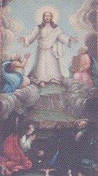 Detalj från altartavlan i Färila kyrka